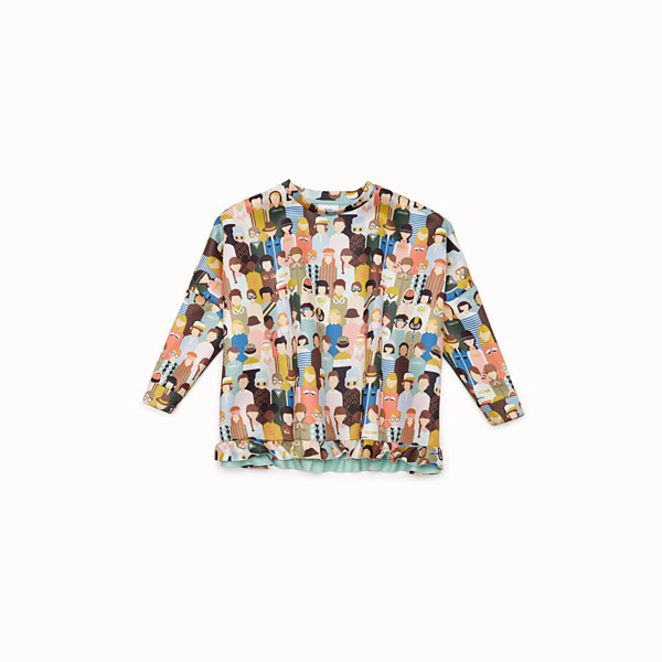 FENDI SWEATSHIRT - Multicolour fabric sweatshirt - view 1 small thumbnail