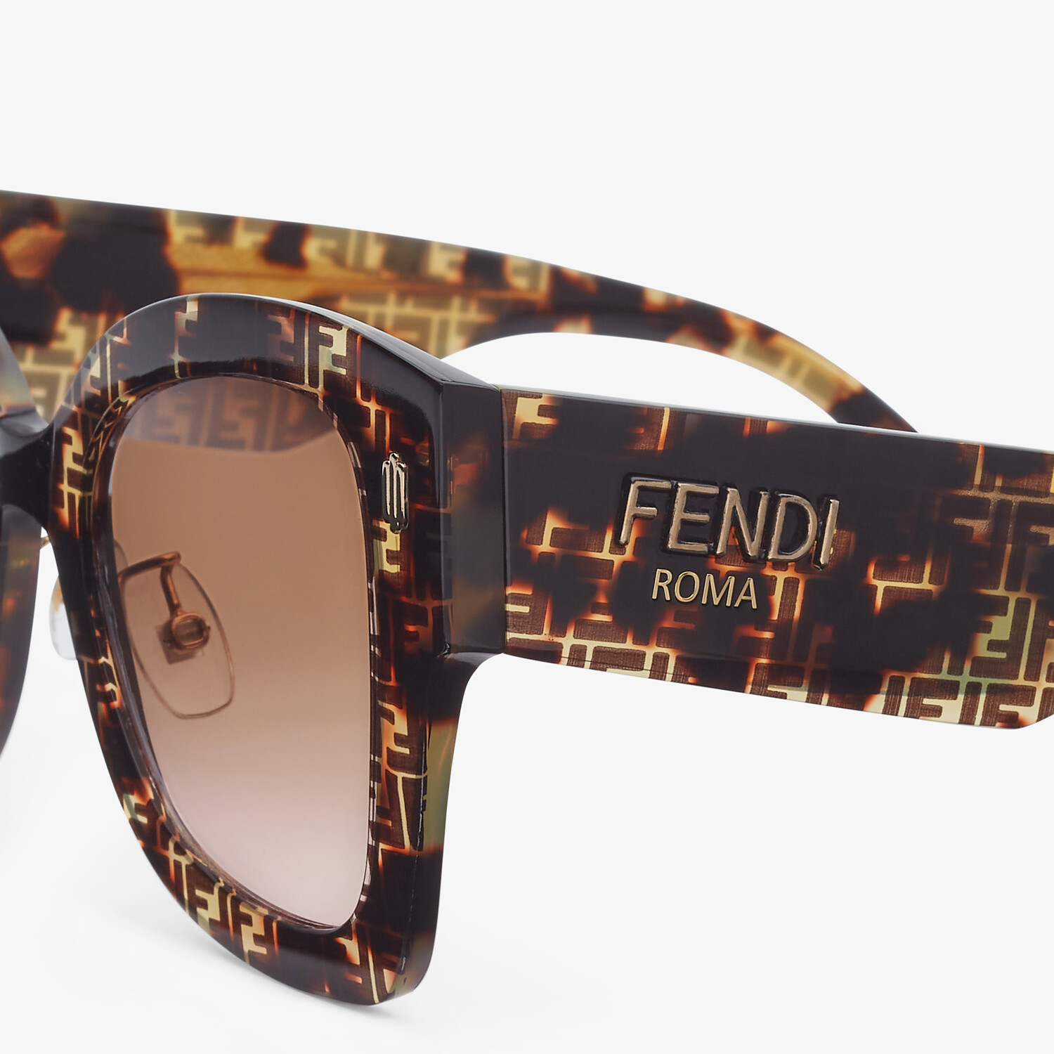 FENDI FENDI ROMA - FF Havana acetate sunglasses - view 3 detail