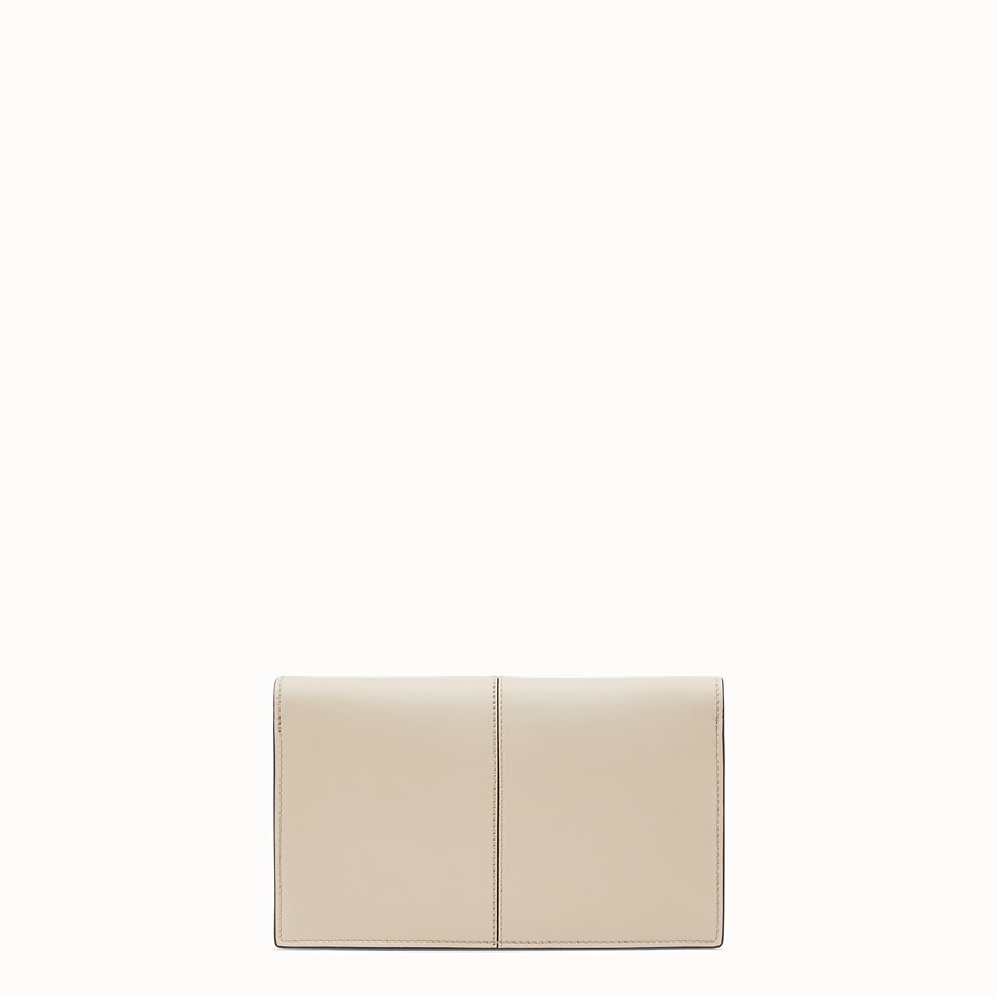 FENDI WALLET ON CHAIN - Beige leather mini bag - view 3 detail