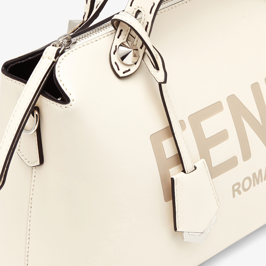 FENDI BY THE WAY MEDIUM - White leather Boston bag - view 6 detail