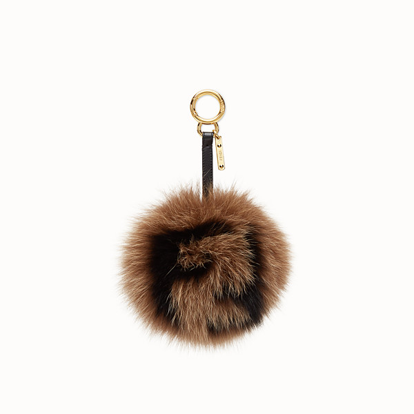 FENDI CHARM POMPON - Bijou de sac en fourrure multicolore - view 1 small thumbnail
