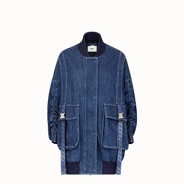 FENDI BOMBER - Blue cotton bomber - view 1 small thumbnail