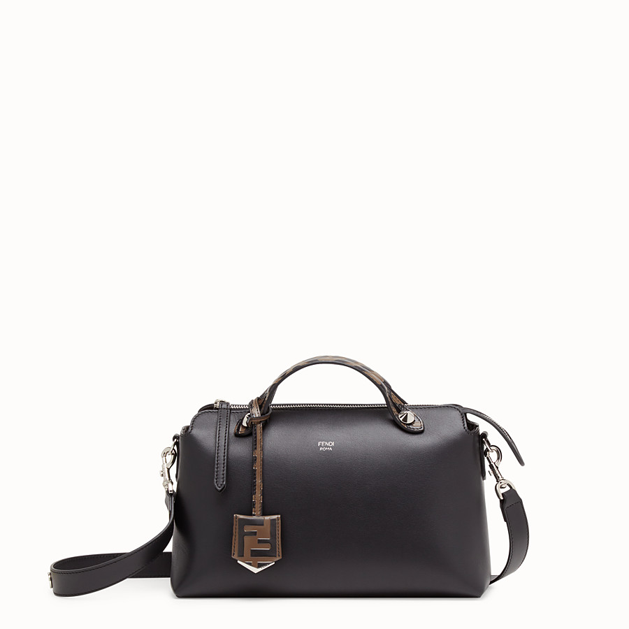 FENDI BY THE WAY REGULAR - Sac Boston en cuir noir - view 1 detail