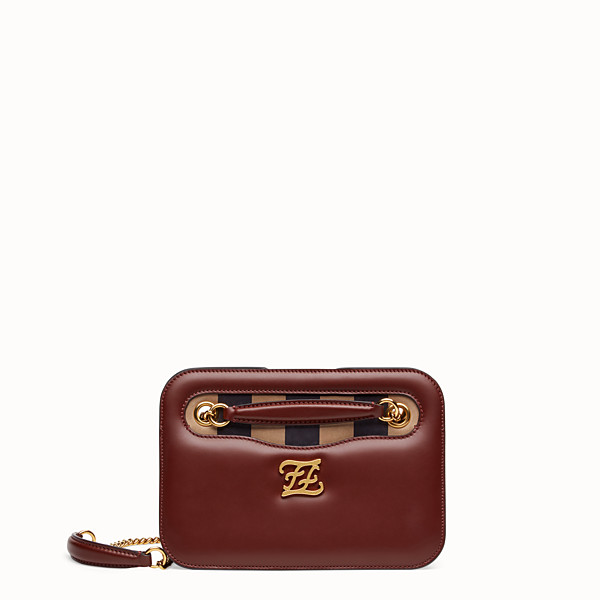 FENDI KARLIGRAPHY POCKET - Brown leather bag - view 1 small thumbnail