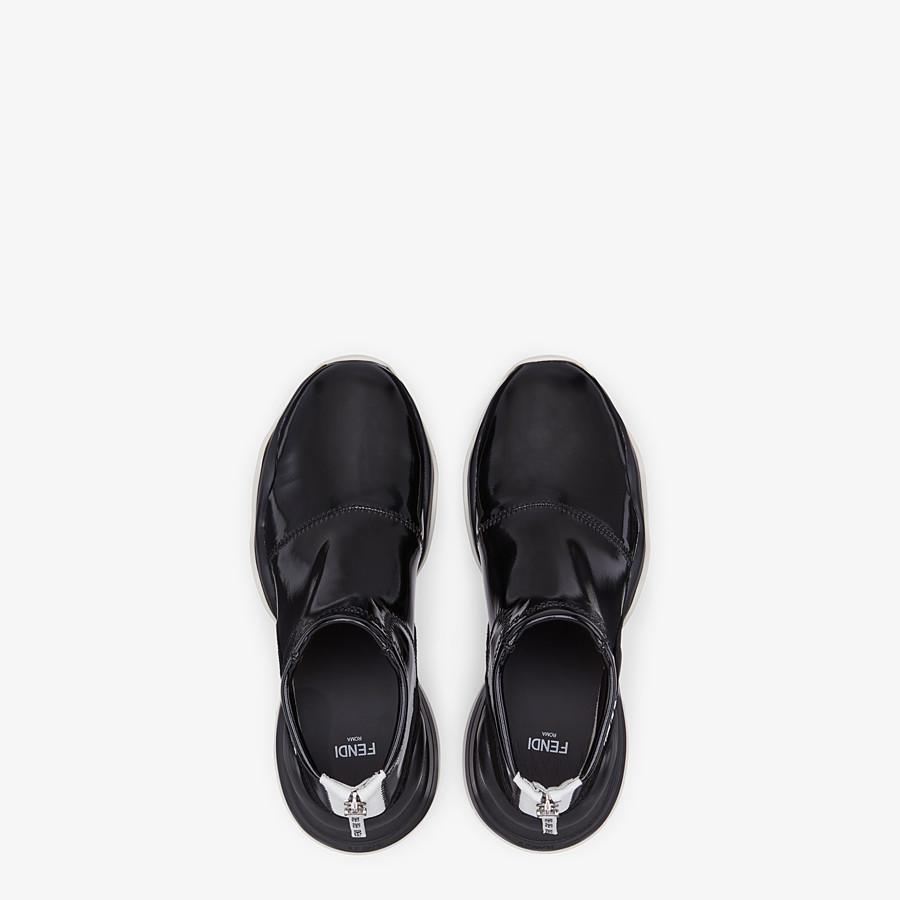 FENDI SNEAKERS - Sneakers in glossy black neoprene - view 4 detail