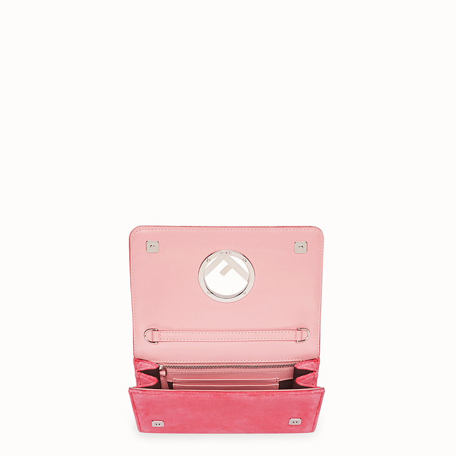 FENDI WALLET ON CHAIN - Pink velvet mini-bag - view 4 detail