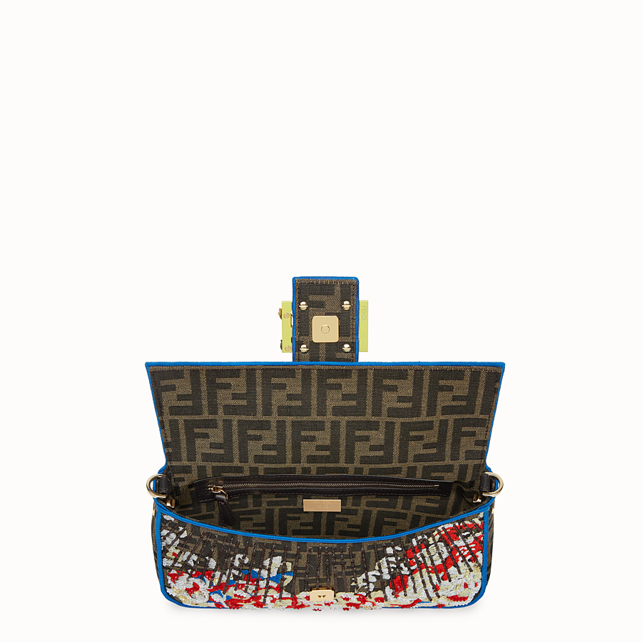 FENDI BAGUETTE - Multicolor fabric bag - view 4 detail