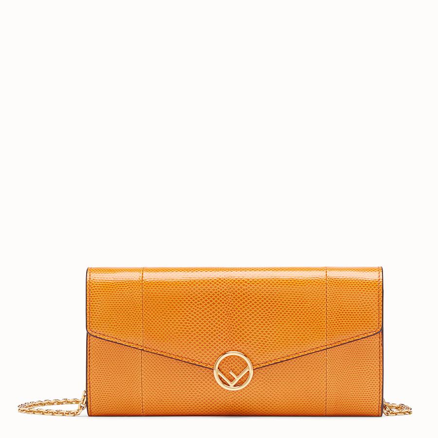 FENDI CONTINENTAL WITH CHAIN - Orange karung wallet - view 1 detail