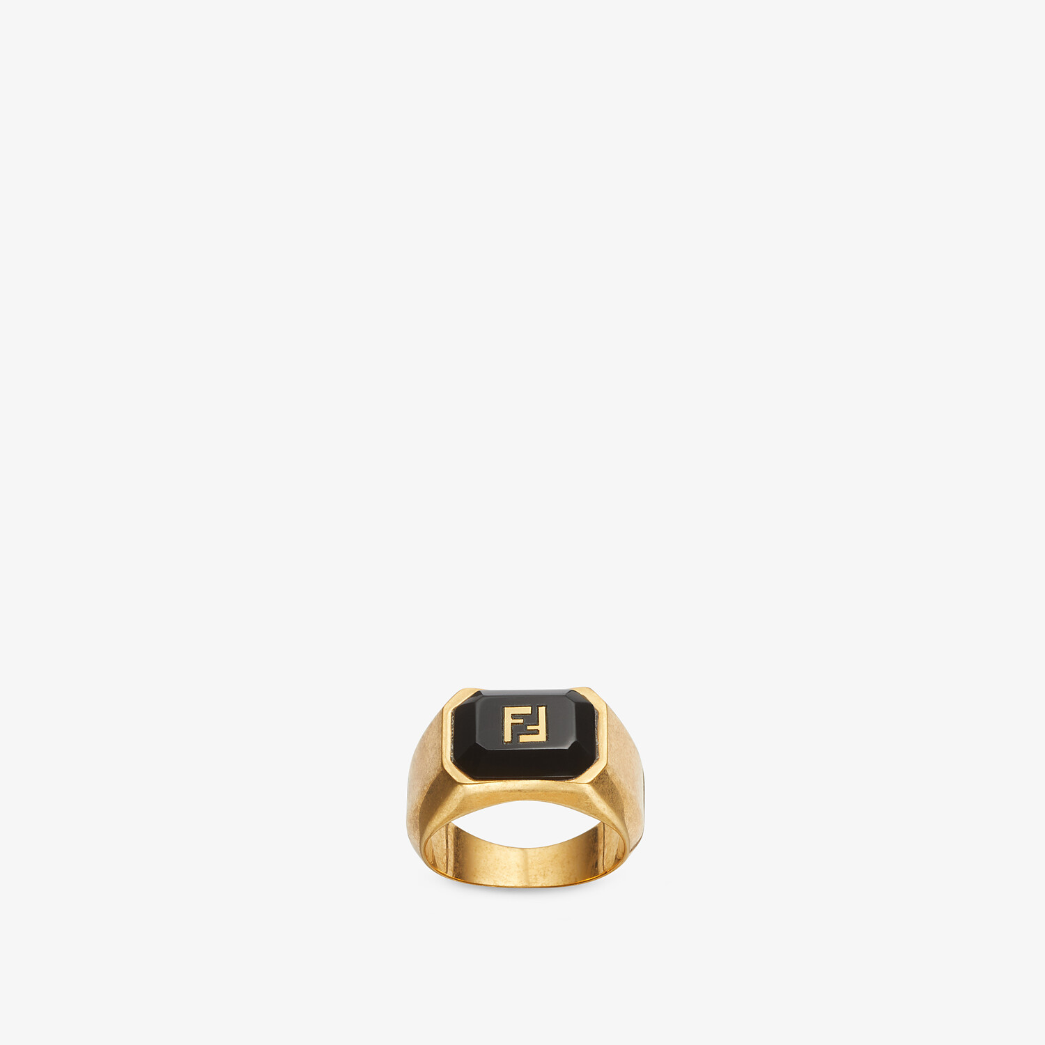 FENDI FF ONYX RING - Gold-colored ring - view 1 detail