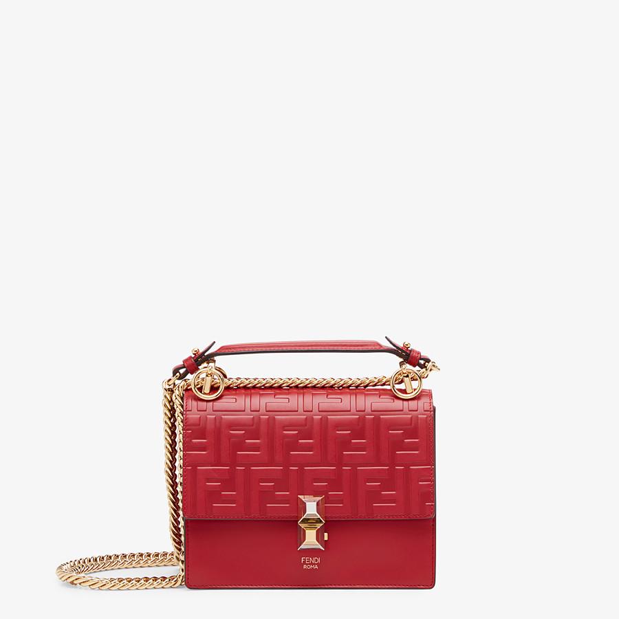 Red Leather Mini Bag Kan I Small Fendi