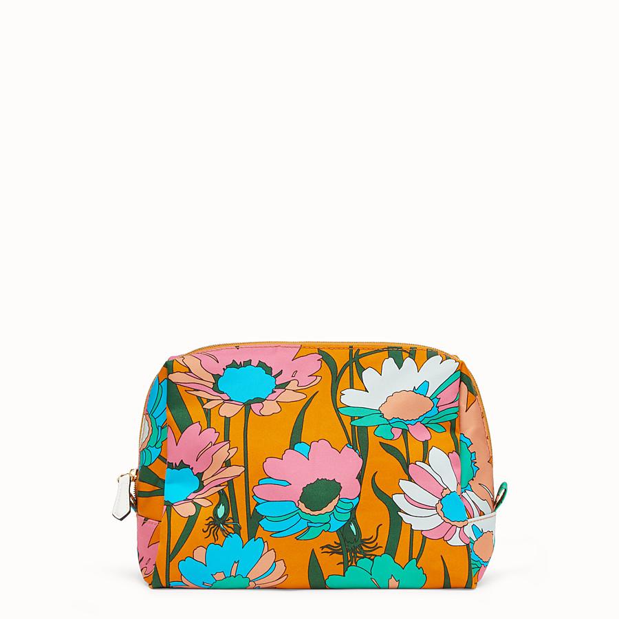 FENDI MEDIUM BEAUTY POUCH - Multicolour nylon toiletry case - view 1 detail