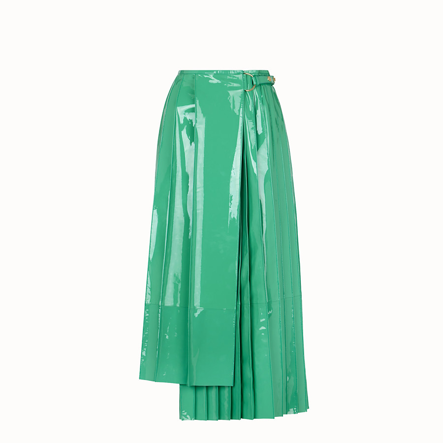 FENDI SKIRT - Green patent leather skirt - view 1 detail