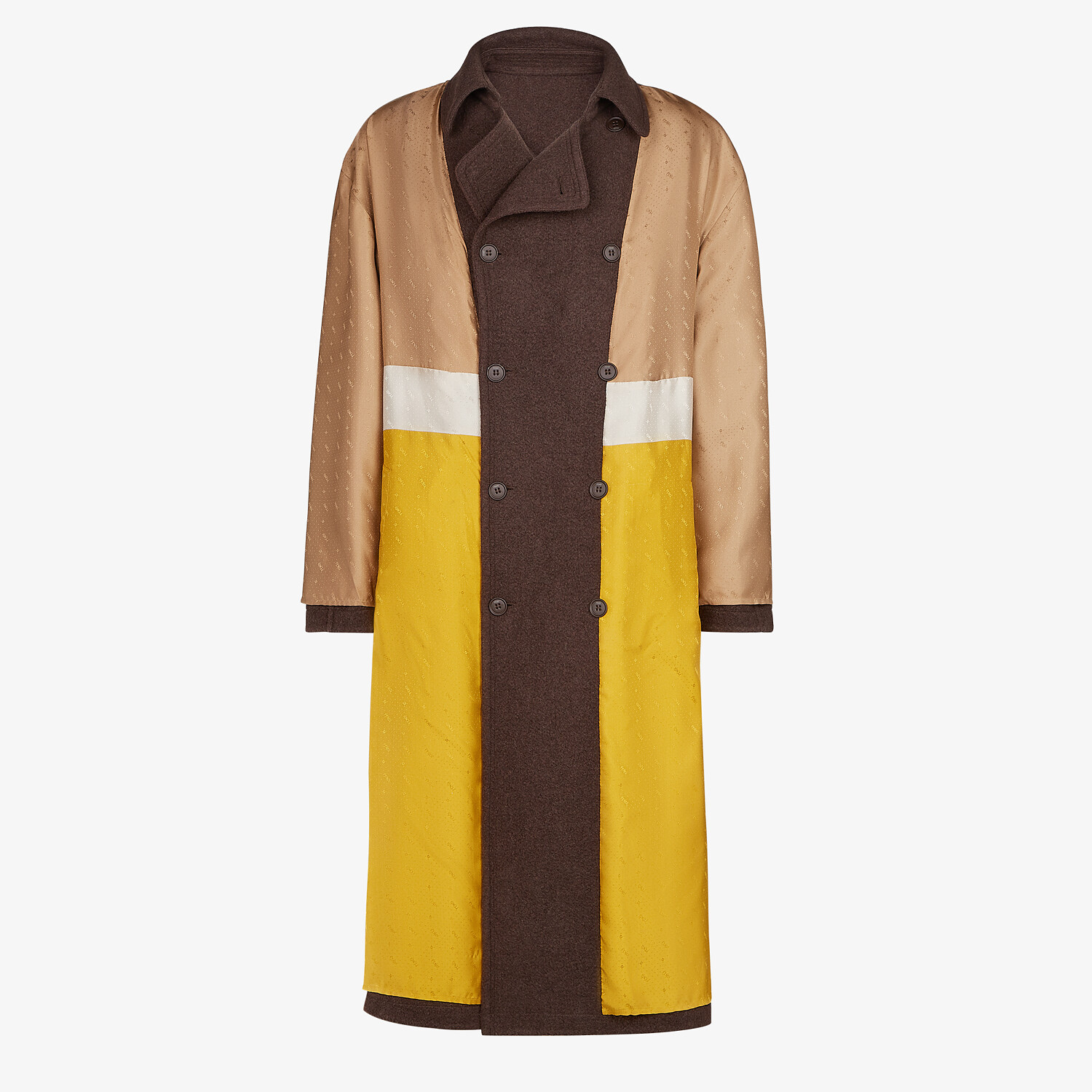 FENDI TRENCH COAT - Brown cashmere trench coat - view 4 detail