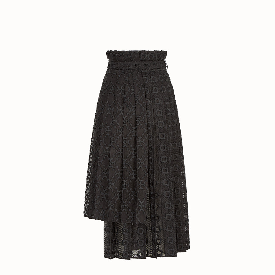 FENDI SKIRT - Black organza skirt - view 2 detail