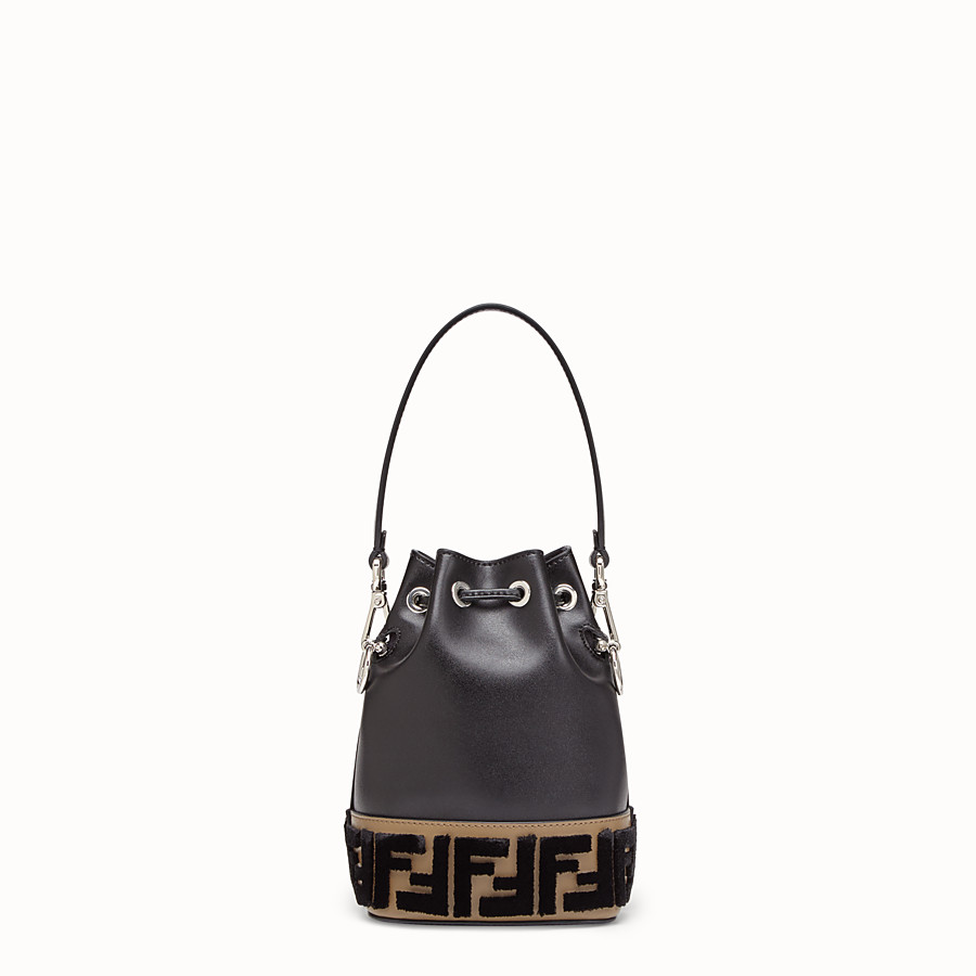 FENDI MON TRESOR - Black leather minibag - view 3 detail