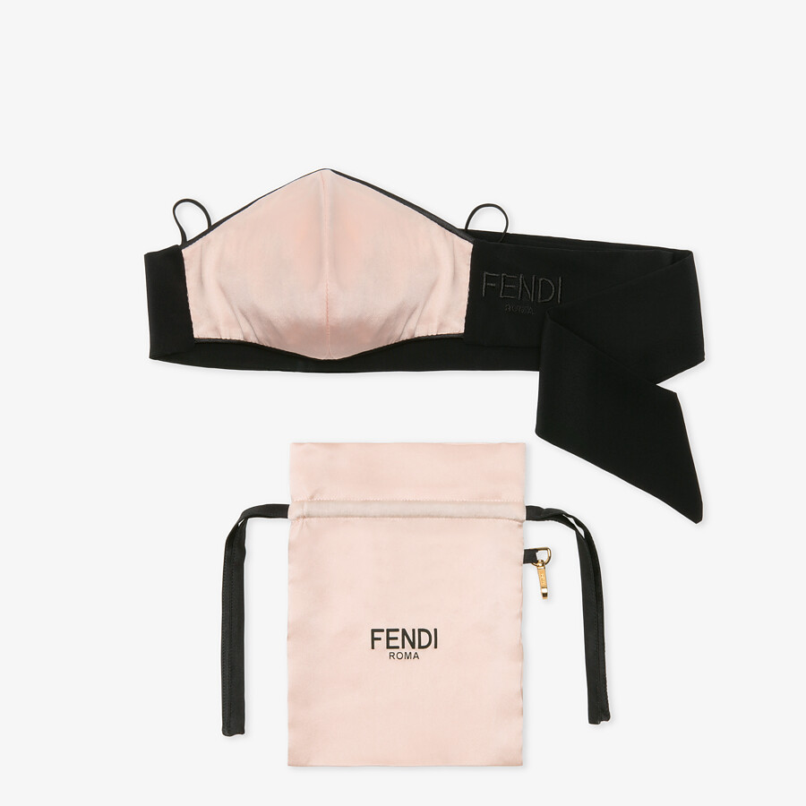FENDI MASK COVER - Pink satin mask cover - view 1 detail