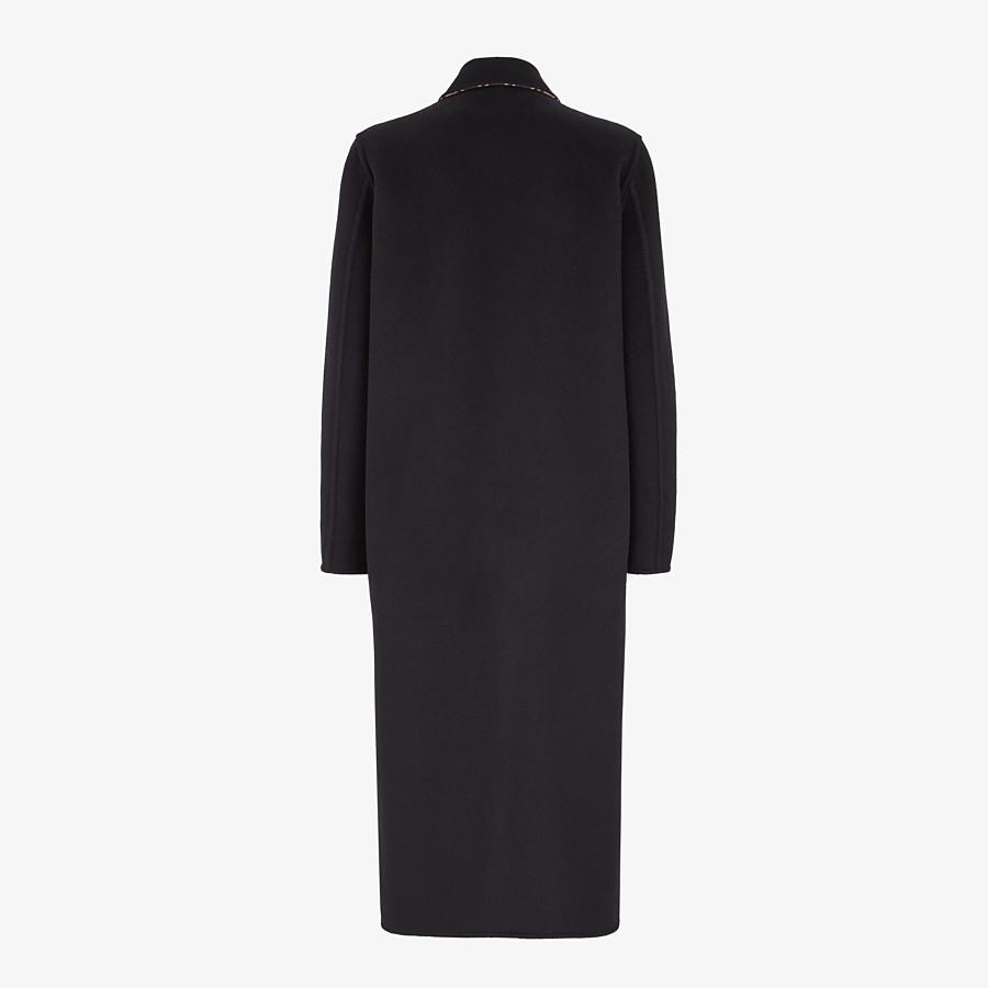 FENDI CAPPOTTO - Cappotto in lana nera - vista 2 dettaglio