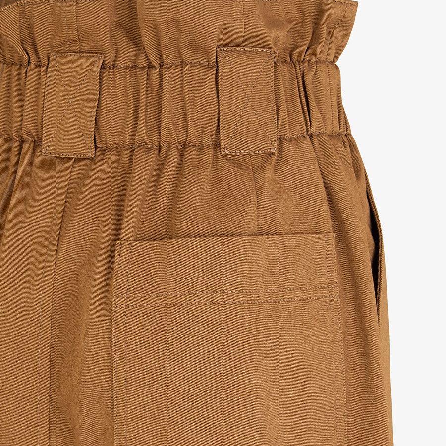 FENDI PANTS - Brown gabardine pants - view 3 detail