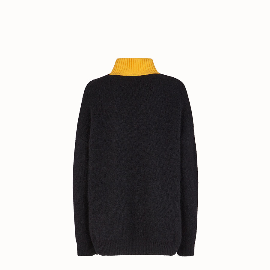 FENDI PULLOVER - Black mohair jumper - view 2 detail