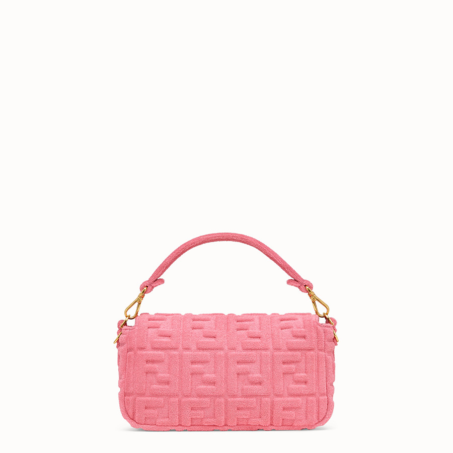 FENDI BAGUETTE - Pink terry bag - view 4 detail