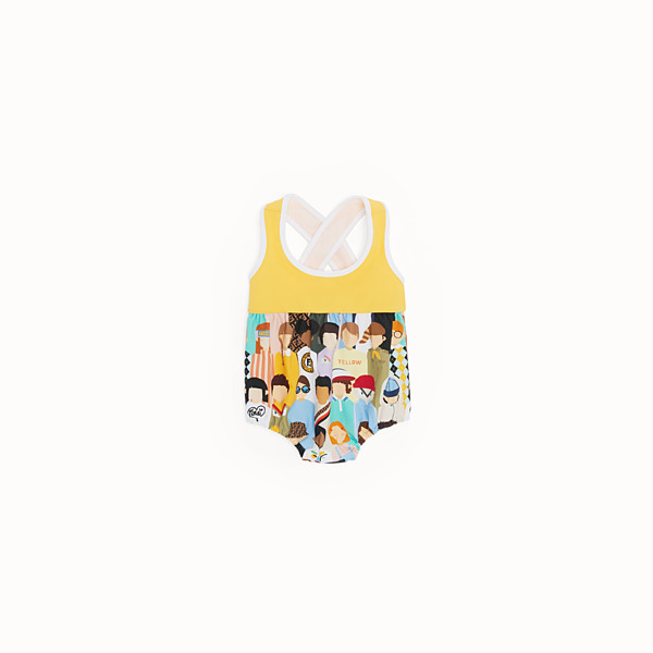 FENDI ONE-PIECE SWIMSUIT - Multicolour nylon swimsuit - view 1 small thumbnail