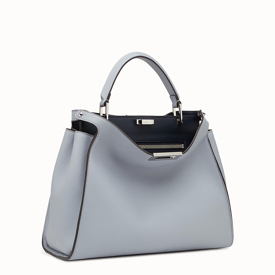 FENDI PEEKABOO ESSENTIAL - Slate and dark blue leather handbag - view 2 detail
