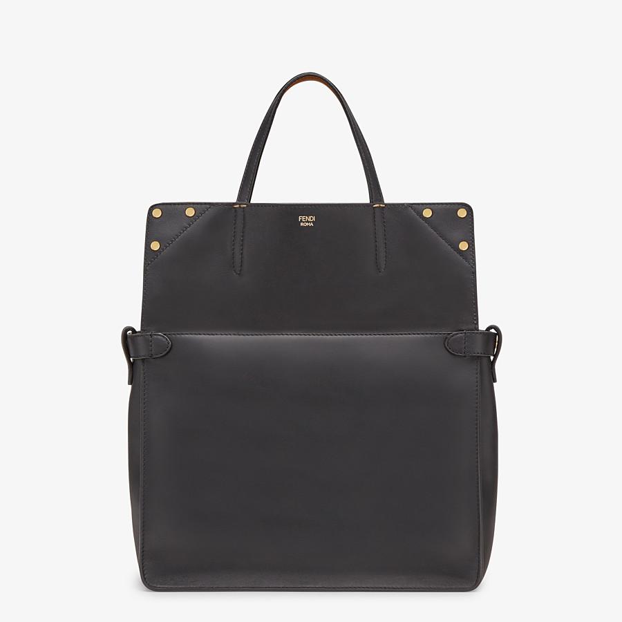 FENDI FENDI FLIP LARGE - Multicolour leather and suede bag - view 3 detail