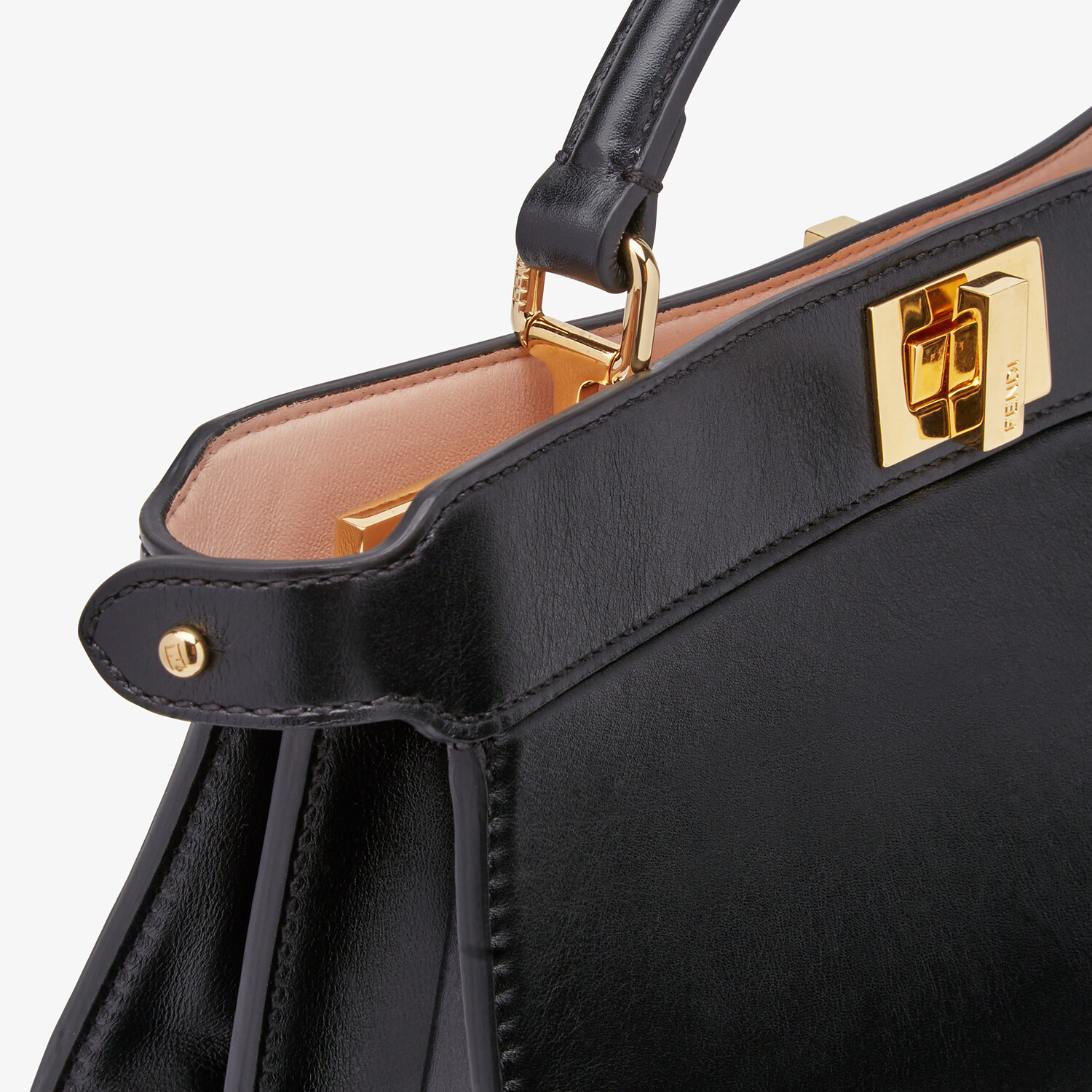 FENDI PEEKABOO ISEEU EAST-WEST - Black leather bag - view 6 detail