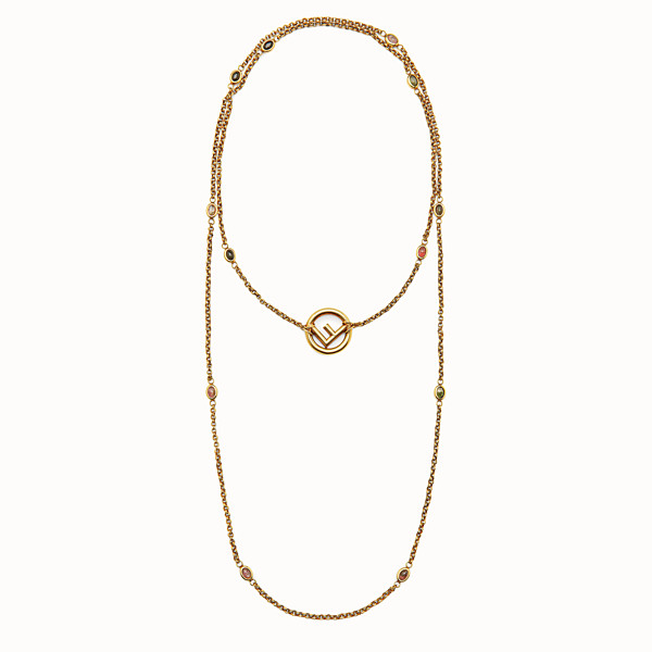 FENDI F IS FENDI NECKLACE - Gold-colour necklace - view 1 small thumbnail