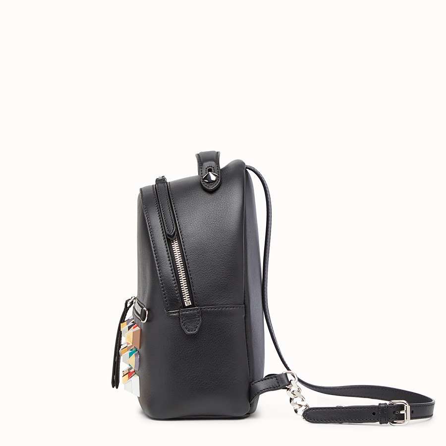 FENDI MINI BACKPACK - in black leather with studs - view 2 detail