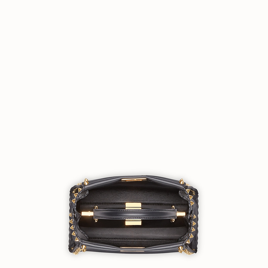 FENDI PEEKABOO MINI - Black leather bag - view 4 detail