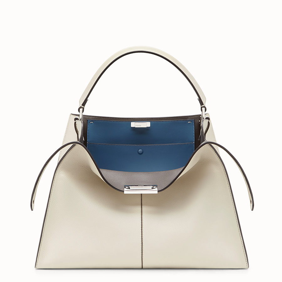 FENDI PEEKABOO X-LITE LARGE - White leather bag - view 1 detail