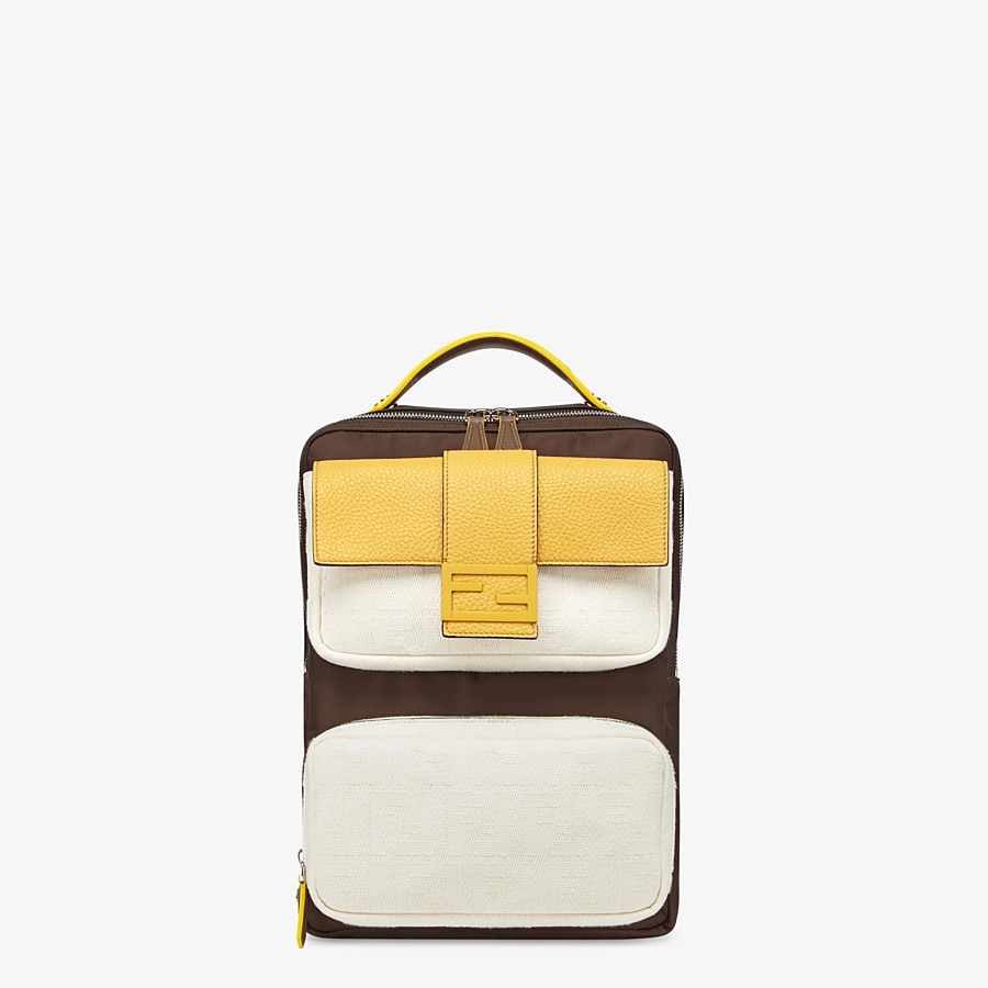 FENDI BACKPACK - Brown nylon backpack - view 1 detail