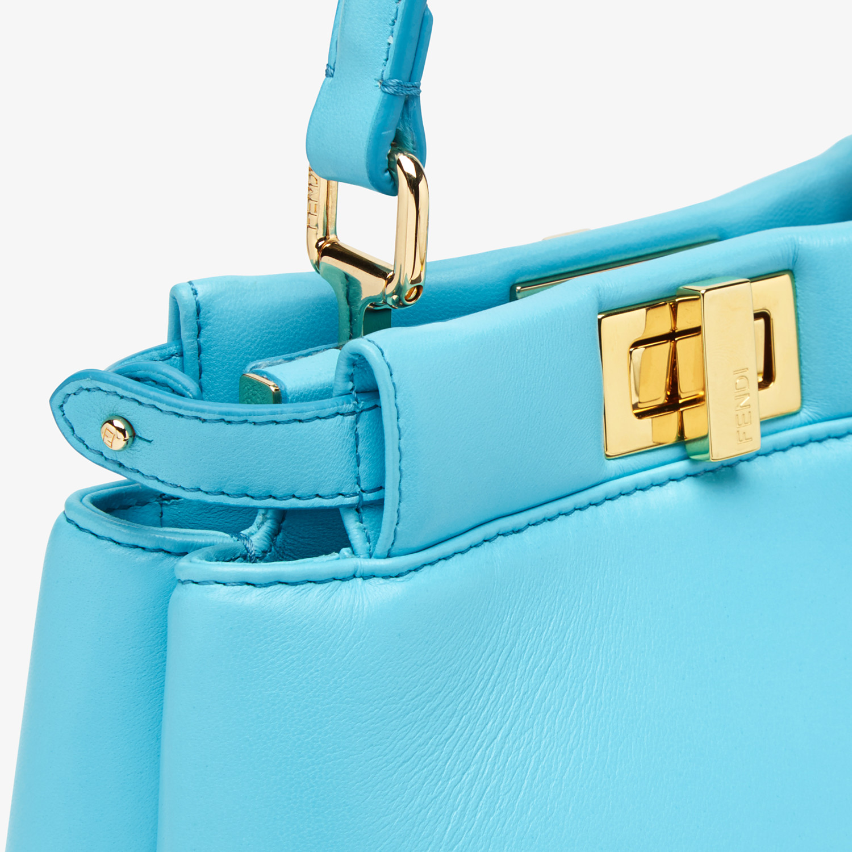 FENDI PEEKABOO ICONIC XS - Light blue nappa leather bag - view 5 detail
