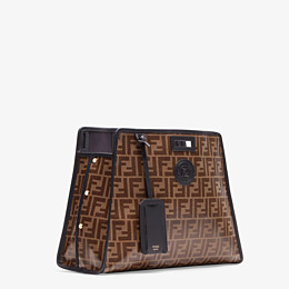 FENDI MEDIUM PEEKABOO DEFENDER - Peekaboo cover in brown fabric - view 2 thumbnail