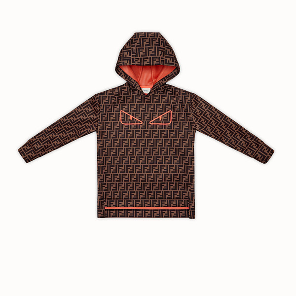 FENDI SWEATSHIRT - Brown tech fabric sweatshirt - view 1 small thumbnail