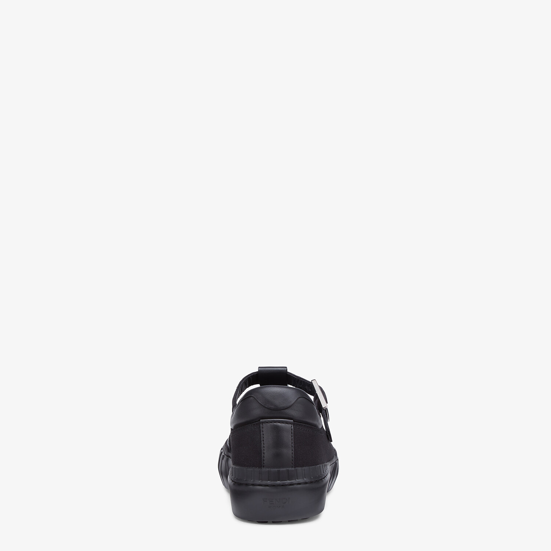 FENDI SNEAKERS - Black canvas low tops - view 3 detail
