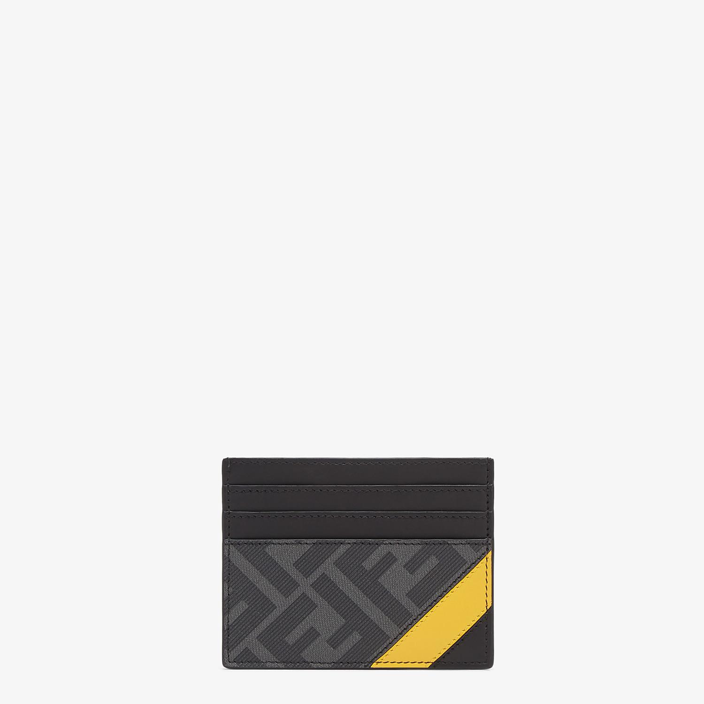 FENDI CARD HOLDER - Gray fabric card holder - view 1 detail