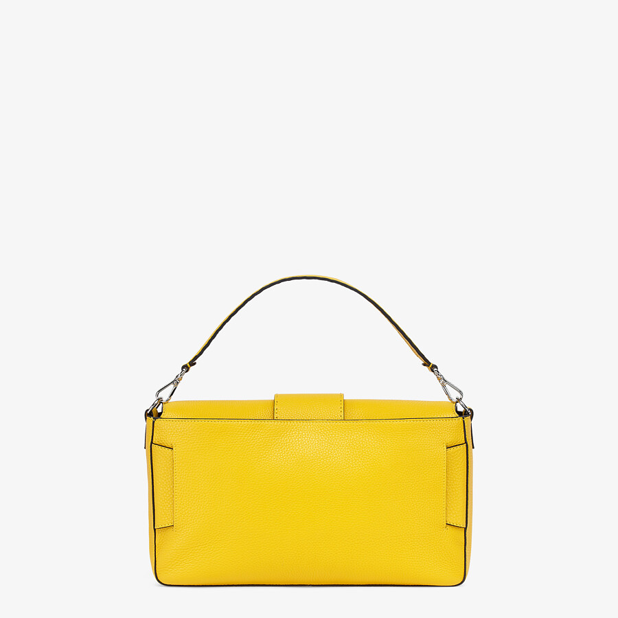 FENDI BAGUETTE LARGE - Yellow leather bag - view 4 detail