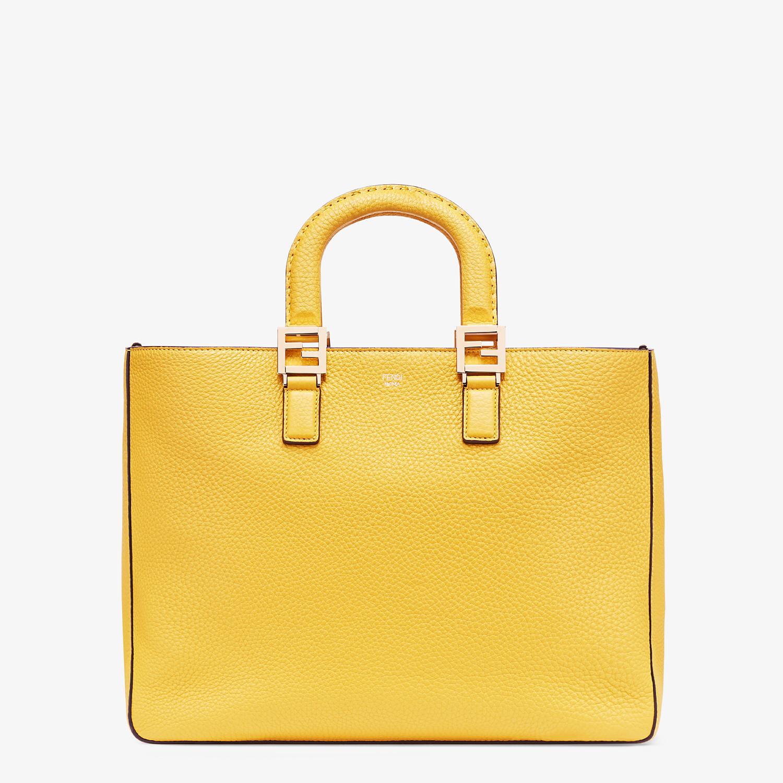 FENDI FF TOTE MEDIUM - Yellow leather bag - view 1 detail