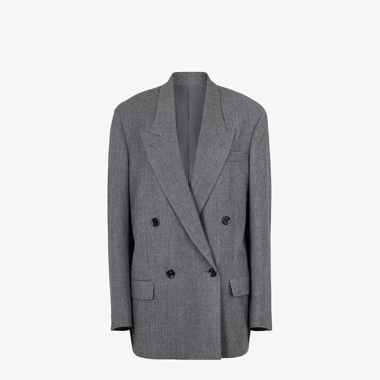 FENDI JACKET - Grey flannel blazer - view 1 detail