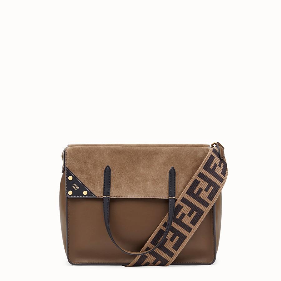 FENDI FENDI FLIP LARGE - Brown leather bag - view 1 detail