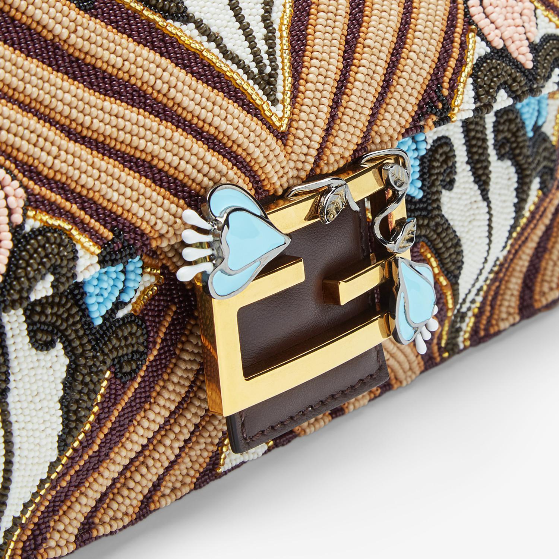 FENDI BAGUETTE - Brown satin bag - view 6 detail