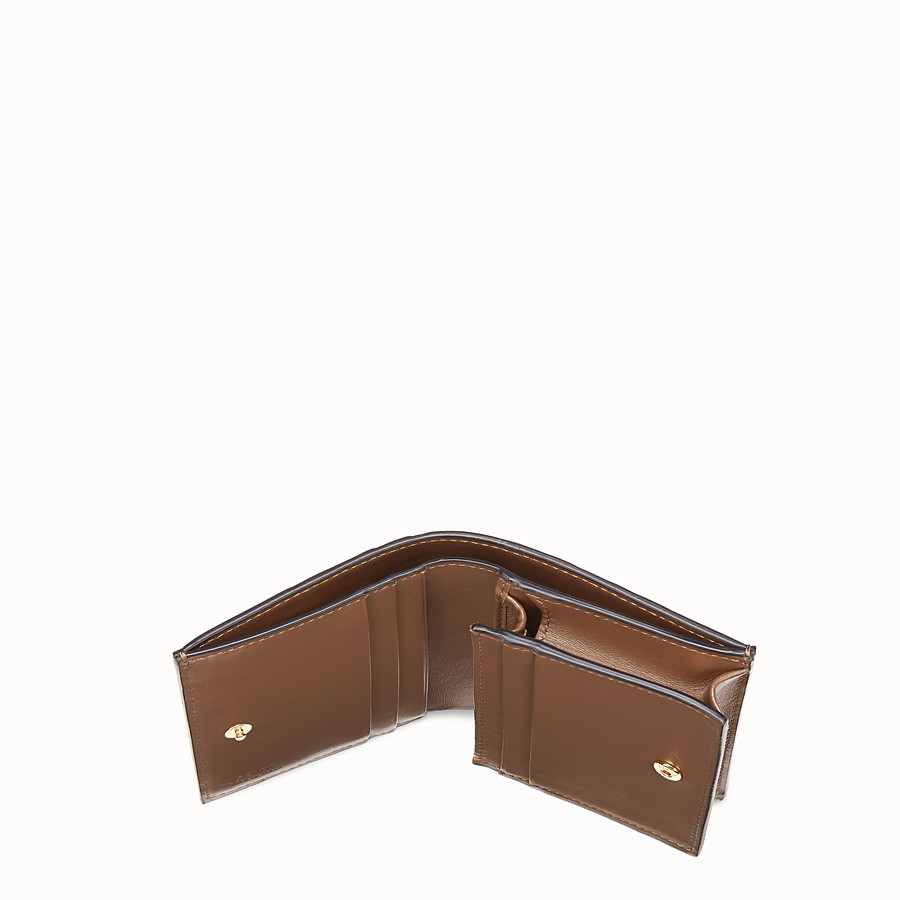 FENDI KLEINES PORTEMONNAIE - Portemonnaie aus Leder in Braun - view 4 detail