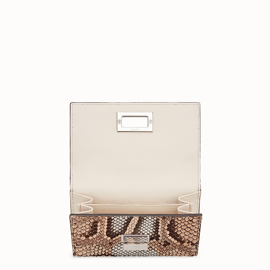 FENDI CONTINENTAL MEDIUM - Beige python skin wallet - view 4 detail