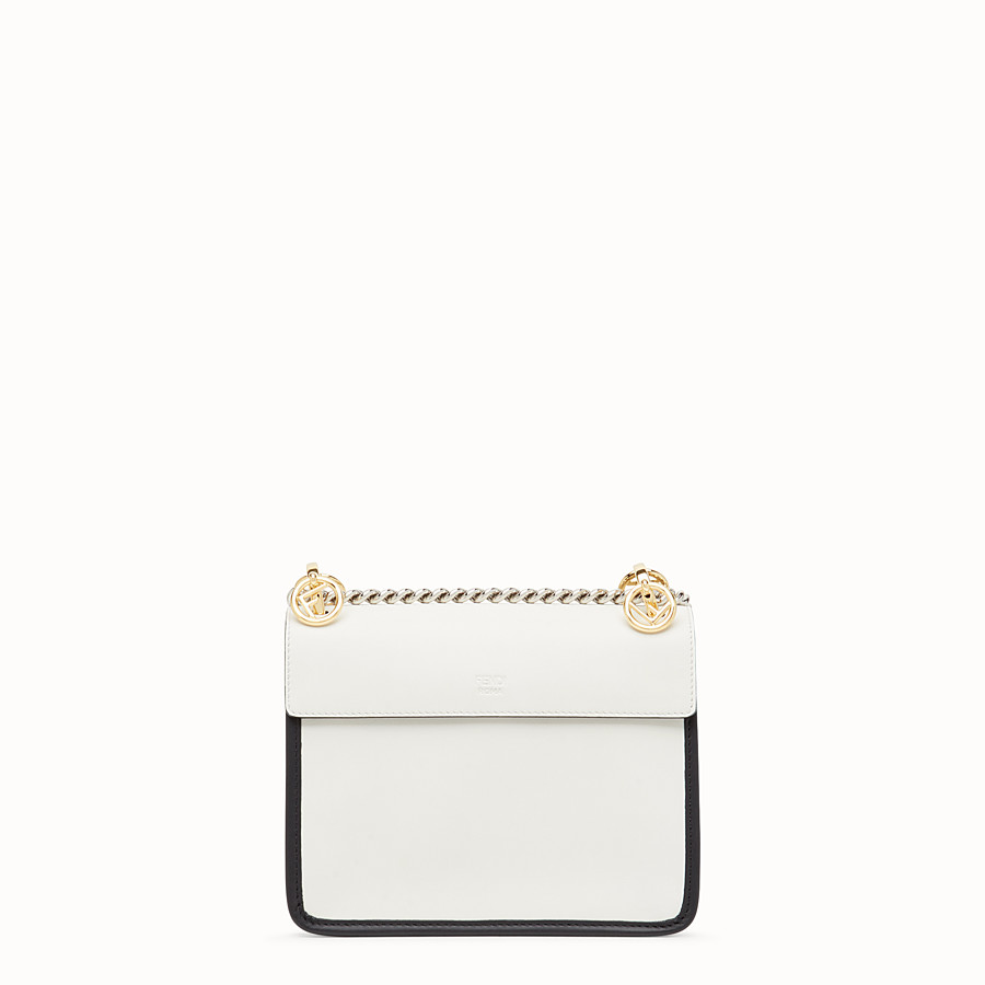 FENDI KAN I F SMALL - White leather minibag - view 3 detail