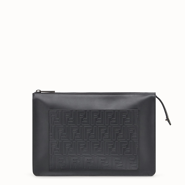 FENDI CLUTCH - Black leather bag - view 1 small thumbnail