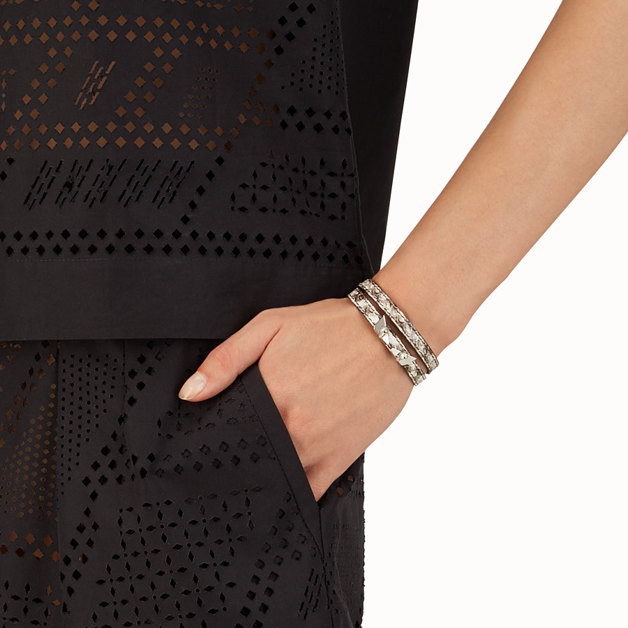 FENDI BRACELET - Crystal Wonders bracelet in elaphe - view 2 detail