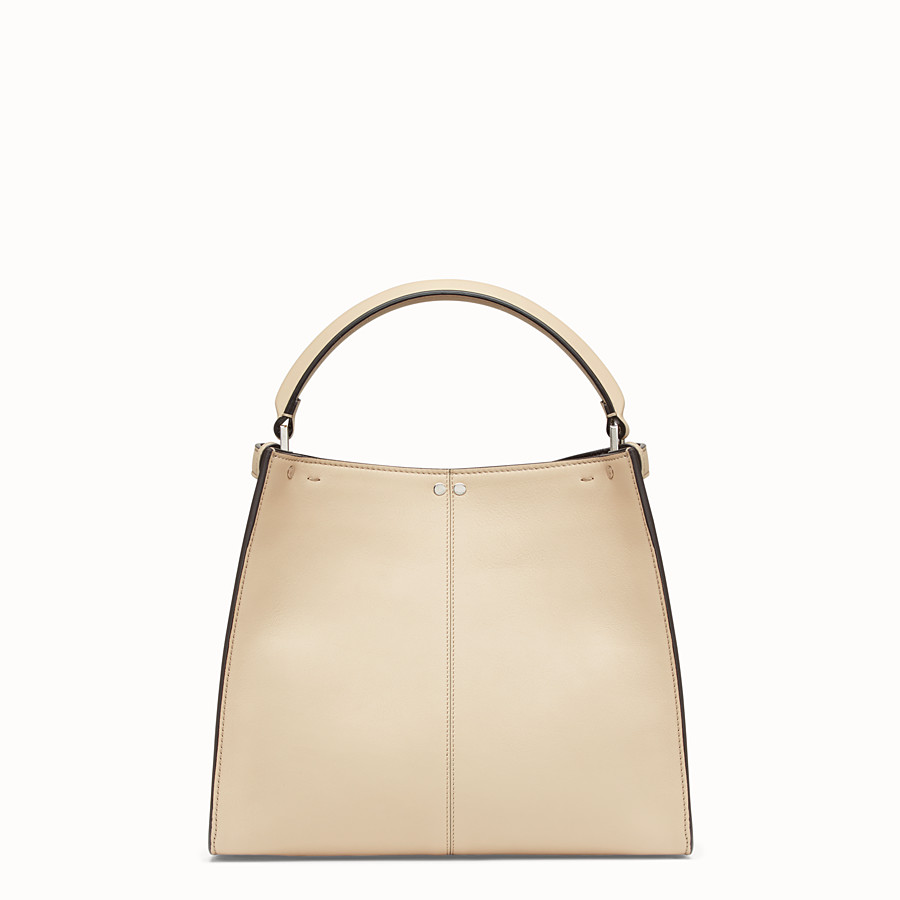 FENDI PEEKABOO X-LITE REGULAR - Beige leather bag - view 5 detail