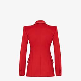 FENDI JACKET - Red piqué blazer - view 2 thumbnail